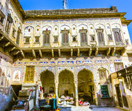 Haveli with wall paintings in Mandawa Stock Photos