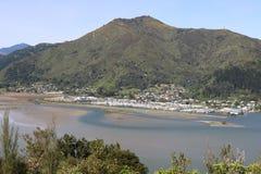 Havelock, Marlborough声音,新西兰 库存图片