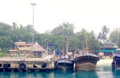 Havelock-Anlegestelle, Andaman-Inseln, Indien Stockbilder