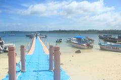 Havelock Island(Andaman). Havelock Jetty at Havelock island in the Andaman Islands stock images