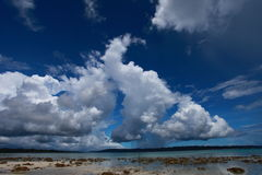 Havelock island beach blue sky with white clouds, Andaman islands - India Royalty Free Stock Photo