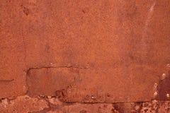 Haveloze geoxydeerde metaaloppervlakte die een abstracte textuur maken Stock Foto's