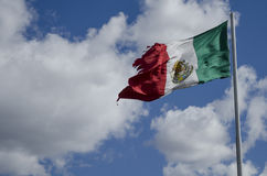 Haveloze Mexicaanse vlag Stock Foto's