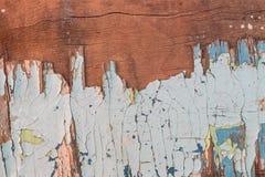 Haveloze oude verf op triplex stock foto's
