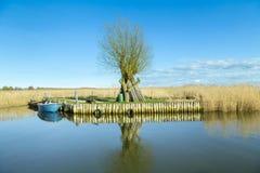 Haven in Achterwasser in Zempin royalty-vrije stock foto's