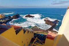 Haven bij de visserijdorp van Gr Pris, Tenerife, Spanje Royalty-vrije Stock Foto