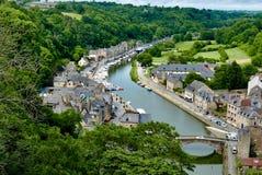 Haven bij Haven Jerzual in Dinan Brittany royalty-vrije stock afbeelding