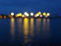 Haven bij nacht Royalty-vrije Stock Foto