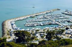Haven in Bovengenoemd bu Sidi, Tunesië Royalty-vrije Stock Fotografie