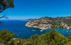 Haven d& x27; Andratx Mallorca Stock Afbeelding