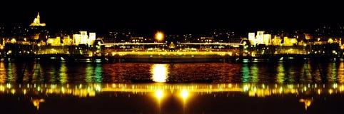 Haven in de nacht stock foto