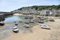 Haven de van Cornwall van het Dorp Stock Foto
