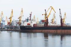 Haven in de Zwarte Zee, Odessa, de Oekraïne Stock Fotografie