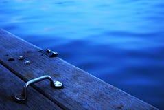 Haven-dek bij zonsondergang Royalty-vrije Stock Afbeelding