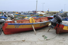 Haven dichtbij La Serena Chile Stock Foto