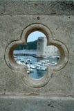 Haven in Dubrovnik in het gat Royalty-vrije Stock Fotografie