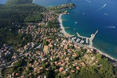 Haven-Elba van Cavo eiland Stock Foto