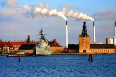 Haven en Fabriek - Copenhague royalty-vrije stock afbeeldingen