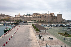 Haven en kasteel in Melilla royalty-vrije stock foto