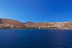 Haven en stad San Sebastian - het Eiland van La Gomera - Kanarie stock afbeeldingen