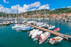 Haven en stad van Lerici in de zomer Royalty-vrije Stock Foto's