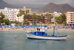Haven en strand royalty-vrije stock afbeeldingen