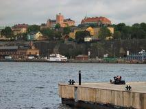 Haven en waterkant Stock Foto