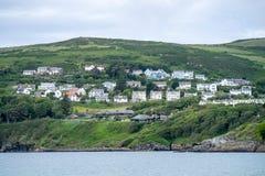 Haven Erin, het Eiland Man, 16 Juni, 2019 Het is een kustdorp in het zuidwesten van het Eiland Man Het was eerder een kust royalty-vrije stock afbeelding
