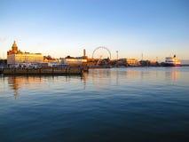 Haven in Helsinki De winter Royalty-vrije Stock Fotografie