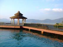 Haven in het meer van de zonmaan Royalty-vrije Stock Foto