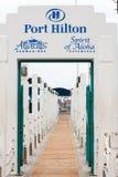 Haven Hilton Pier stock afbeelding