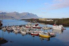 Haven in IJsland stock foto