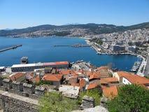 Haven in Kavala, Griekenland stock afbeeldingen