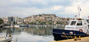 Haven in Kavala, Griekenland Stock Fotografie