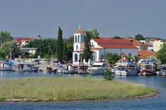 Haven Keramoti, Griekenland Royalty-vrije Stock Afbeeldingen