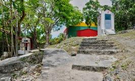 Haven Louis, Guadeloupe, Frankrijk - kan 10 2010: Indische tempel binnen Stock Afbeeldingen