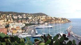 Haven in Nice, Frankrijk stock foto