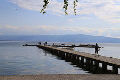 Haven Ohrid Stock Afbeeldingen