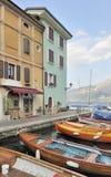 Haven op Meer Garda stock foto's