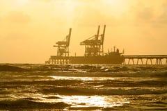 Haven op zonsondergang Royalty-vrije Stock Afbeelding