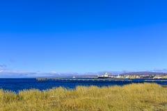 Haven in Punta Arenas, Chili stock afbeeldingen