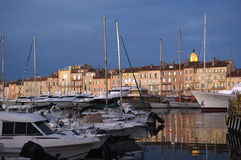 Haven in Saint Tropez, Franse Riviera, Stock Foto's