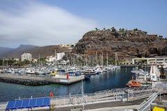 Haven in San Sebastian de La Gomera, eilandla Gomera, Kanarie Isl stock afbeelding