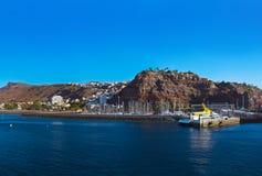 Haven San Sebastian - het Eiland van La Gomera - Kanarie royalty-vrije stock fotografie