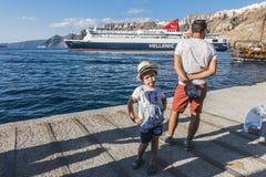 Haven in Santorini, Griekenland Stock Afbeelding