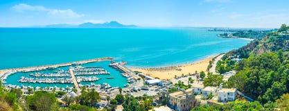 The haven of Sidi Bou Said Royalty Free Stock Photo