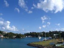 Haven in St. Lucia stock afbeeldingen