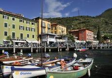 Haven in Torbole Stock Foto