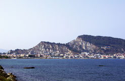 Haven and town Zakynthos Stock Image