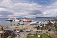 Haven in Ushuaia, de Stad Southermost in de Wereld Royalty-vrije Stock Afbeeldingen